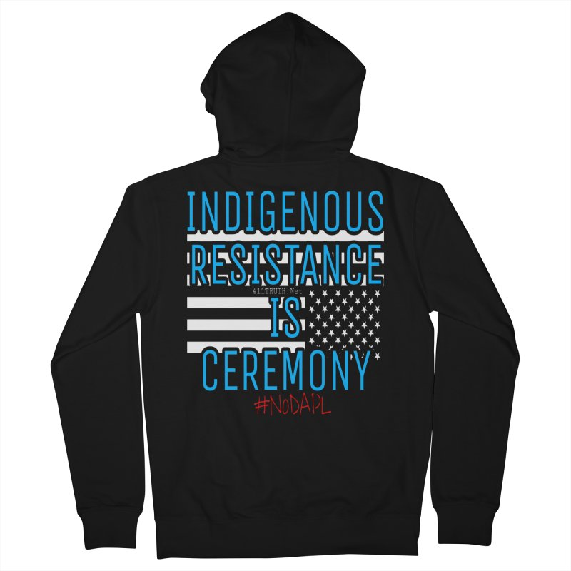 indigenous resistance is ceremony in Men's French Terry Zip-Up Hoody Black by Online Store