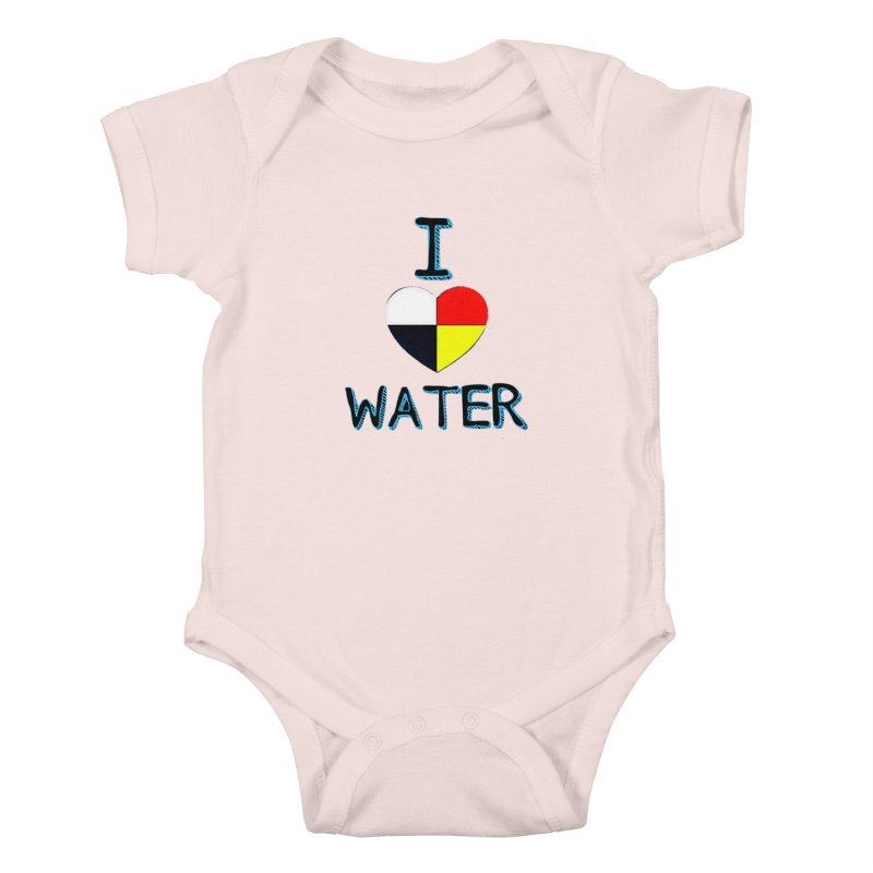 I love Water Kids Baby Bodysuit by Online Store