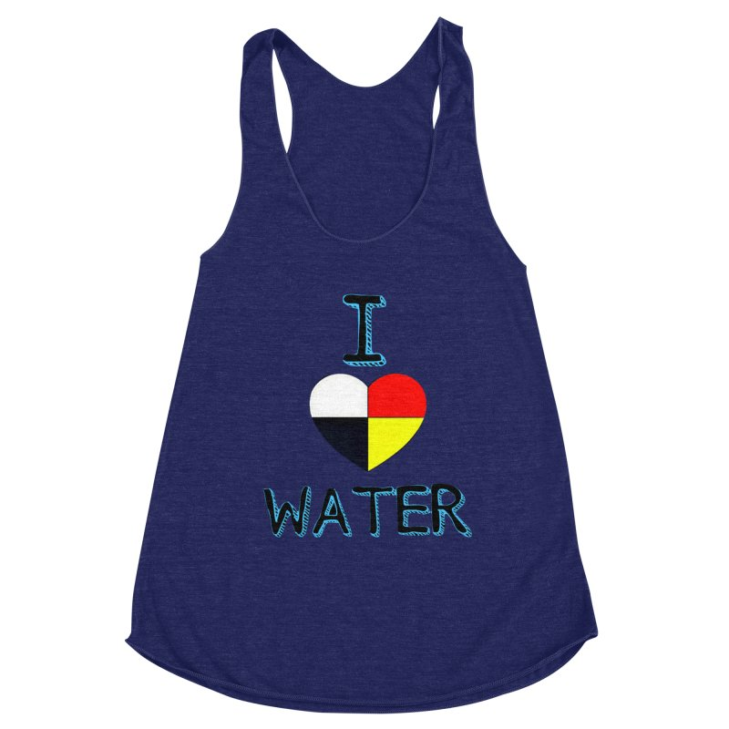 I love Water Women's Racerback Triblend Tank by Online Store