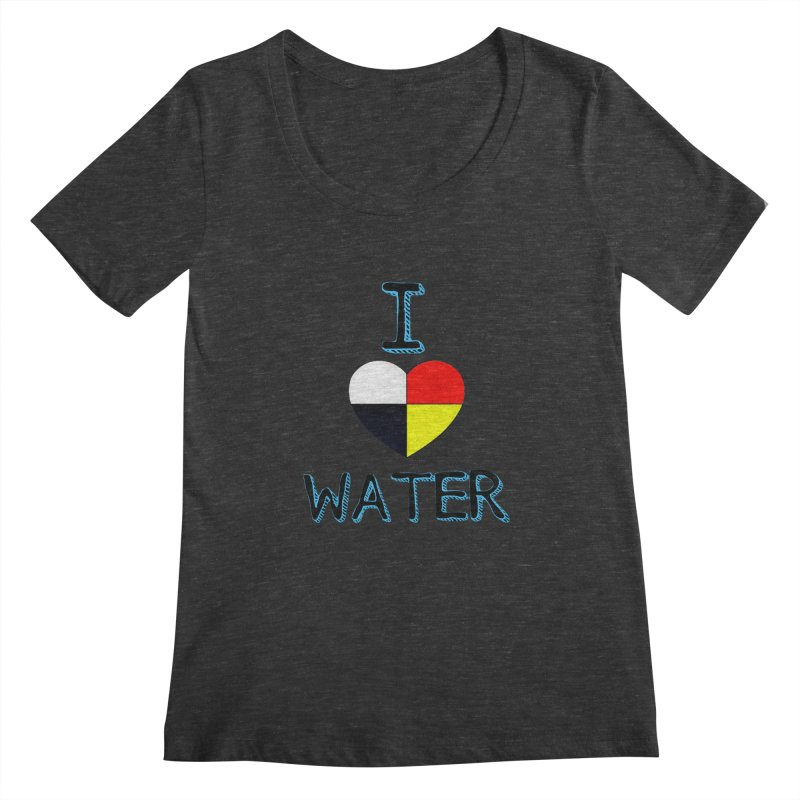 I love Water Women's Scoopneck by Online Store