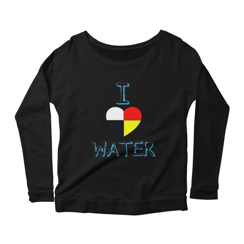 I love Water Women's Scoop Neck Longsleeve T-Shirt by Online Store