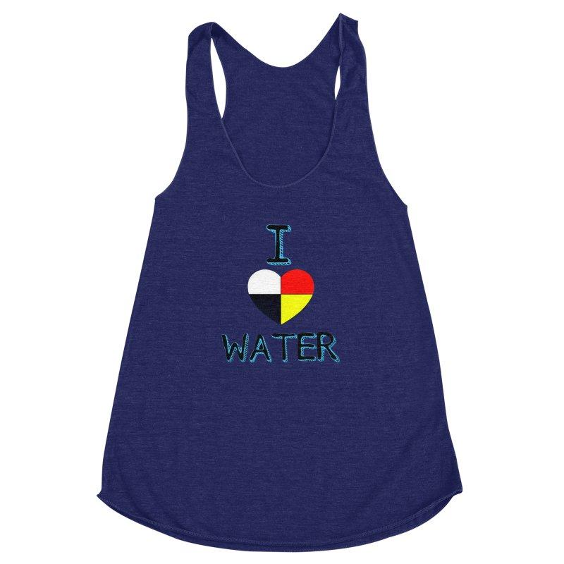 I love Water Women's Racerback Triblend Tank by Online Store