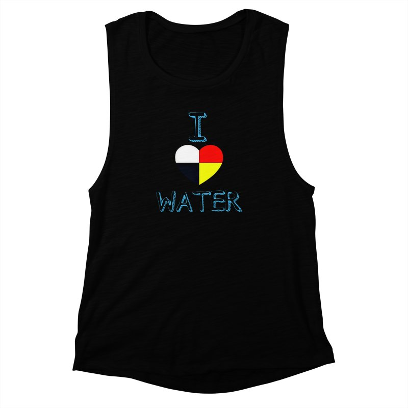 I love Water Women's Muscle Tank by Online Store