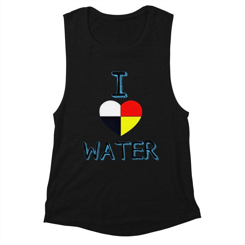 I love Water Women's Muscle Tank by Online Store
