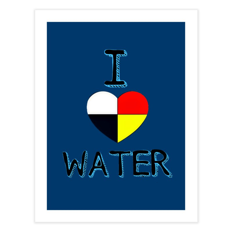 I love Water Home Throw Pillow by Online Store