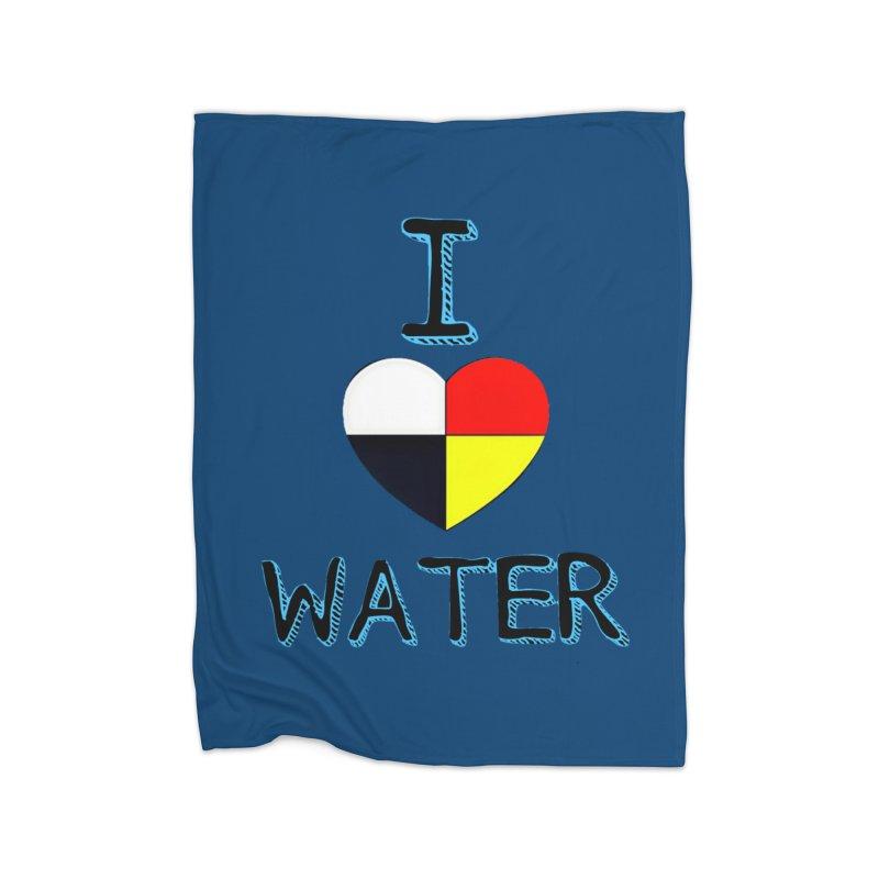 I love Water Home Fleece Blanket Blanket by Online Store