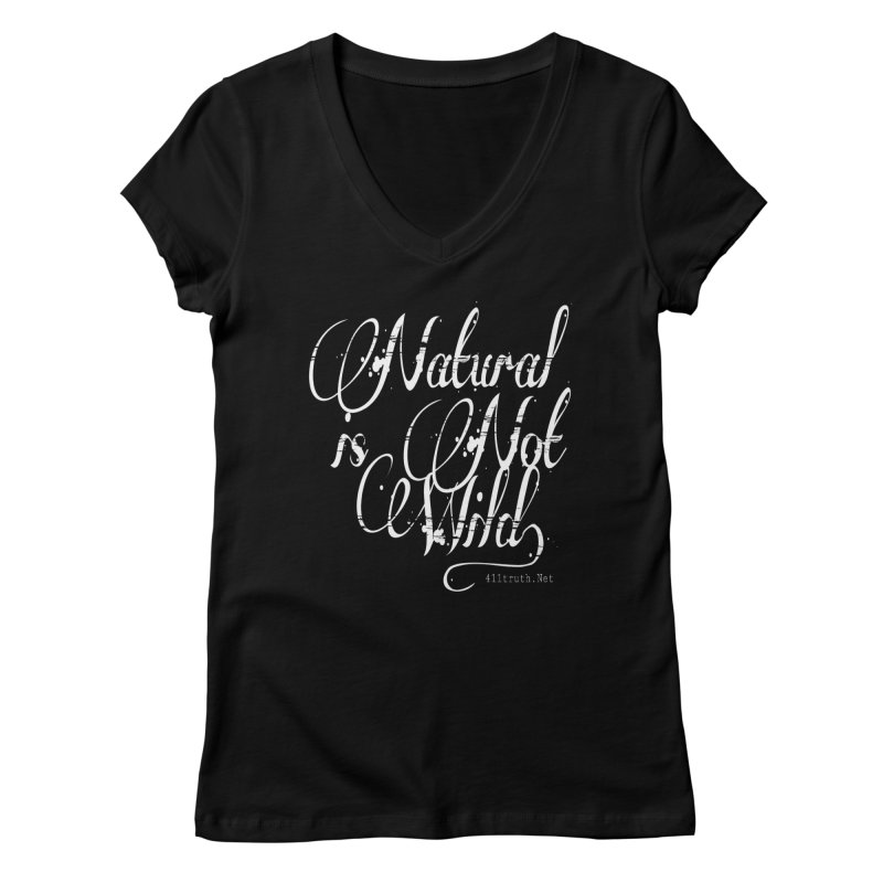 Natural is not Wild Women's Regular V-Neck by Online Store