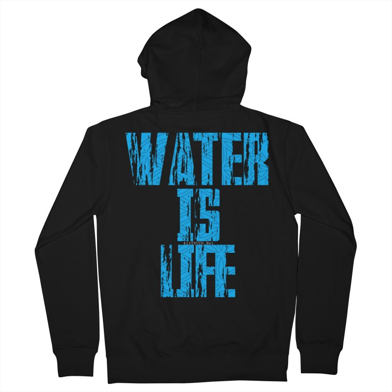 water is life Women's French Terry Zip-Up Hoody by Online Store