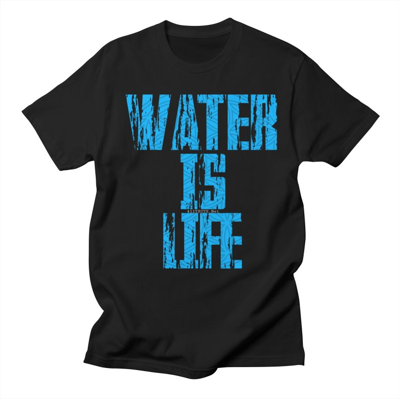 water is life in Men's T-shirt Black by Online Store