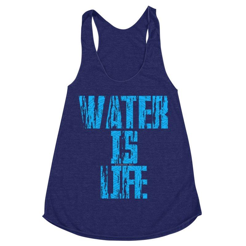 water is life Women's Racerback Triblend Tank by Online Store