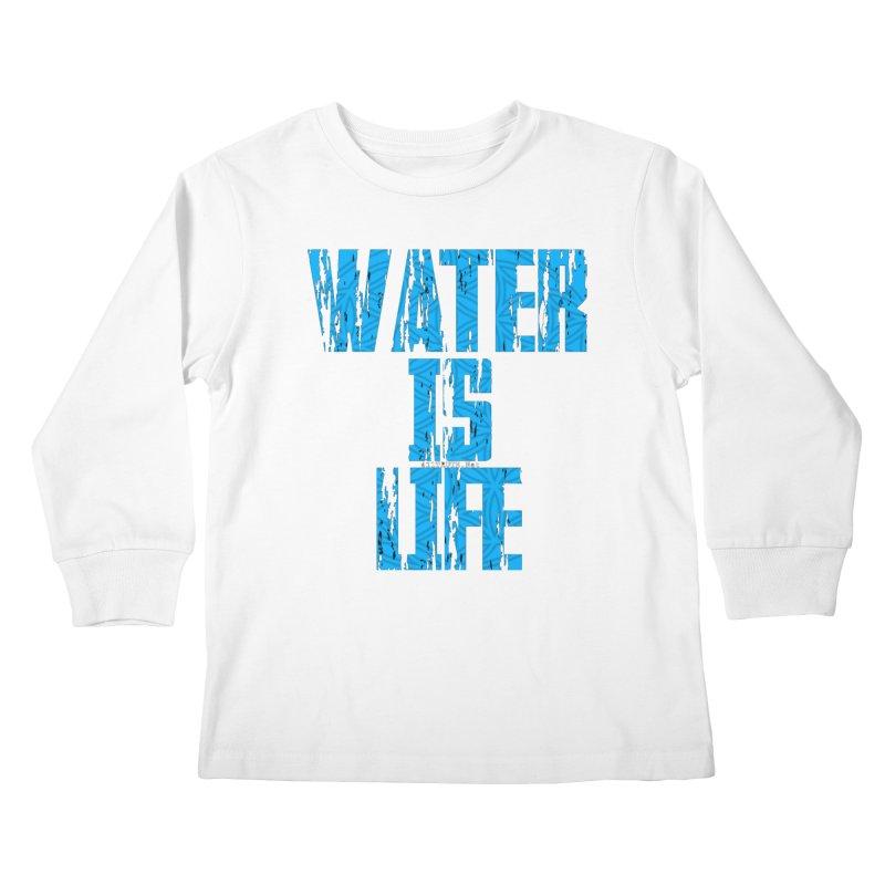 water is life Kids Longsleeve T-Shirt by Online Store