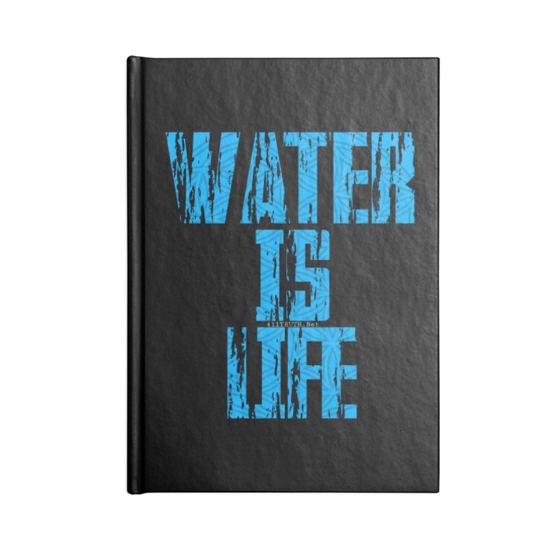 water is life Accessories Blank Journal Notebook by Online Store