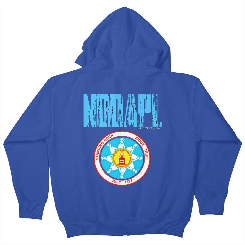 NoDAPL  Kids Zip-Up Hoody by Online Store