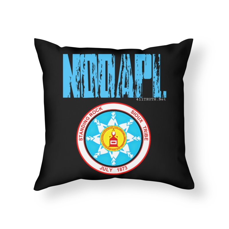 NoDAPL  Home Throw Pillow by Online Store