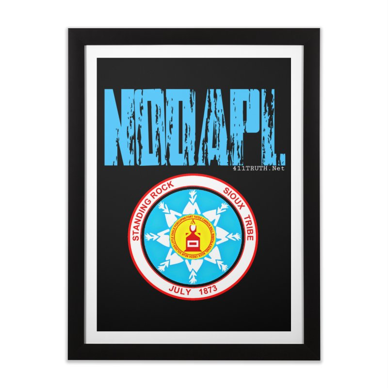 NoDAPL  Home Framed Fine Art Print by Online Store