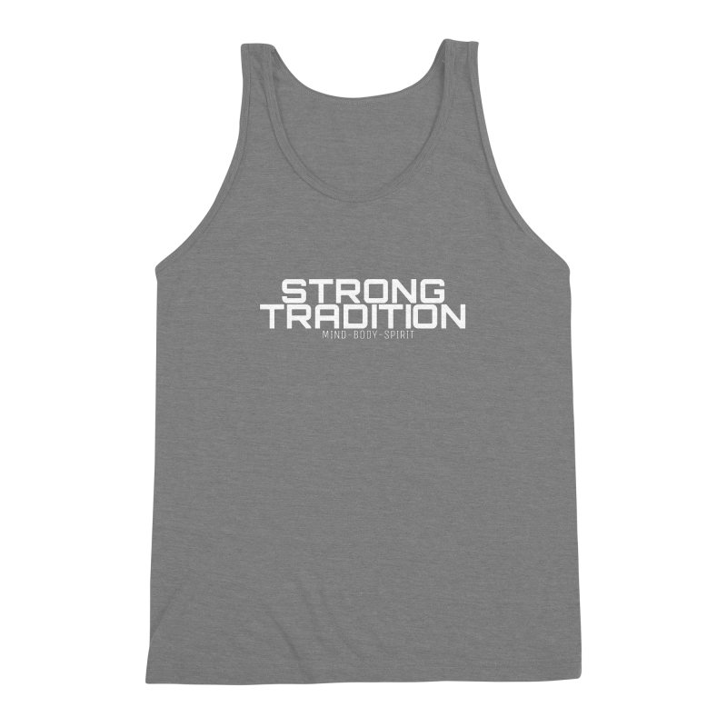 STRONG TRADITION Men's Triblend Tank by Online Store