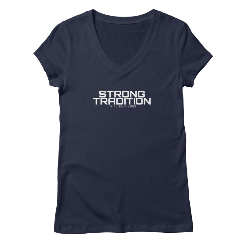 STRONG TRADITION Women's Regular V-Neck by Online Store