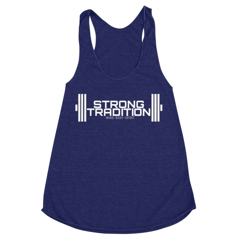STRONG TRADITION  Women's Racerback Triblend Tank by Online Store