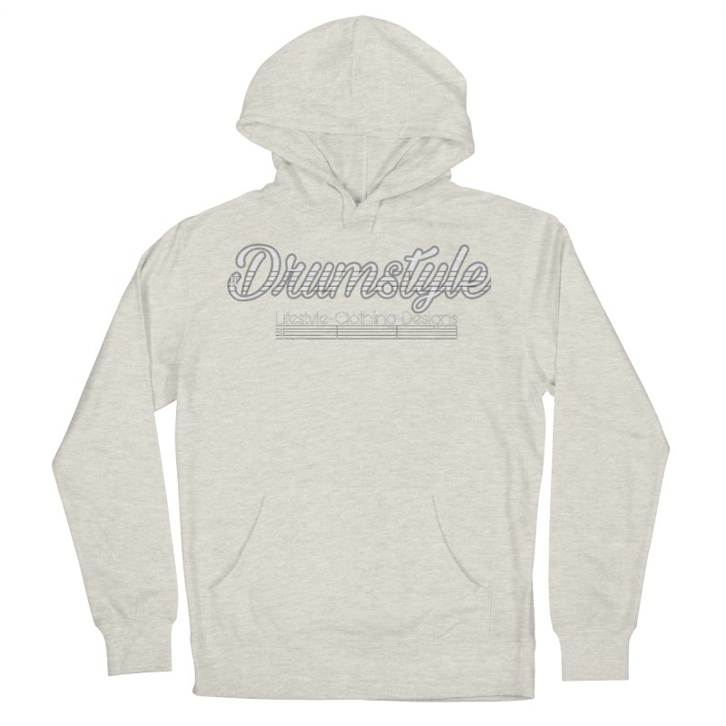 DRUMSTYLE LOGO Men's French Terry Pullover Hoody by Online Store