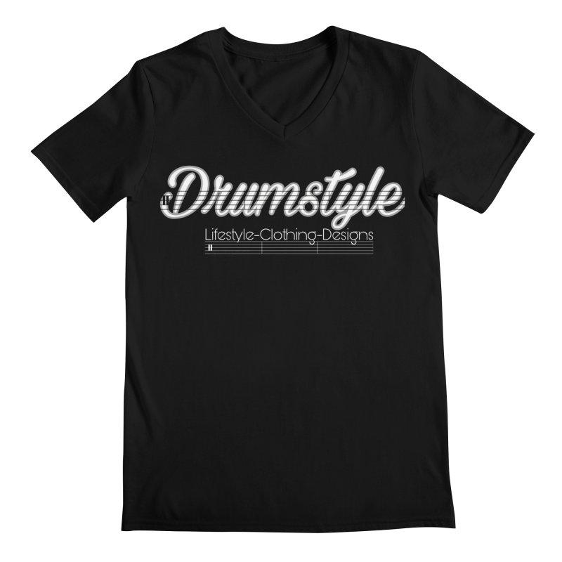 DRUMSTYLE LOGO Men's Regular V-Neck by Online Store