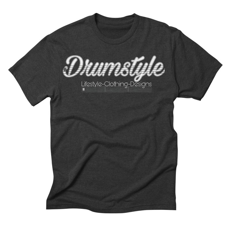 DRUMSTYLE LOGO Men's Triblend T-shirt by Online Store