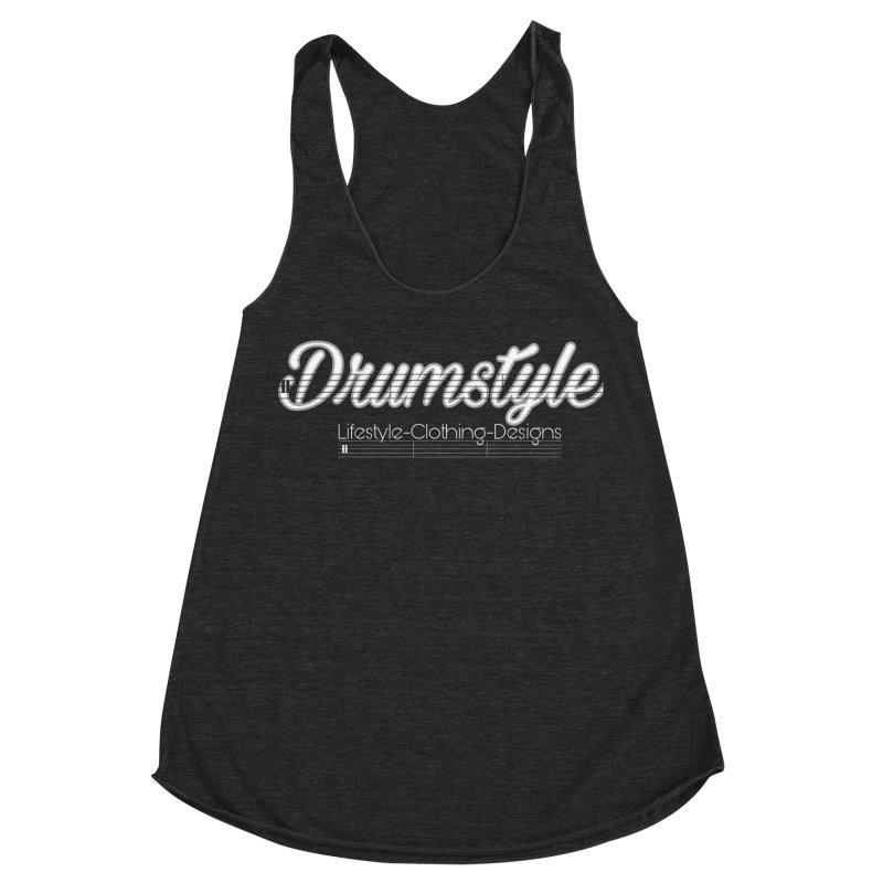 DRUMSTYLE LOGO Women's Racerback Triblend Tank by Online Store