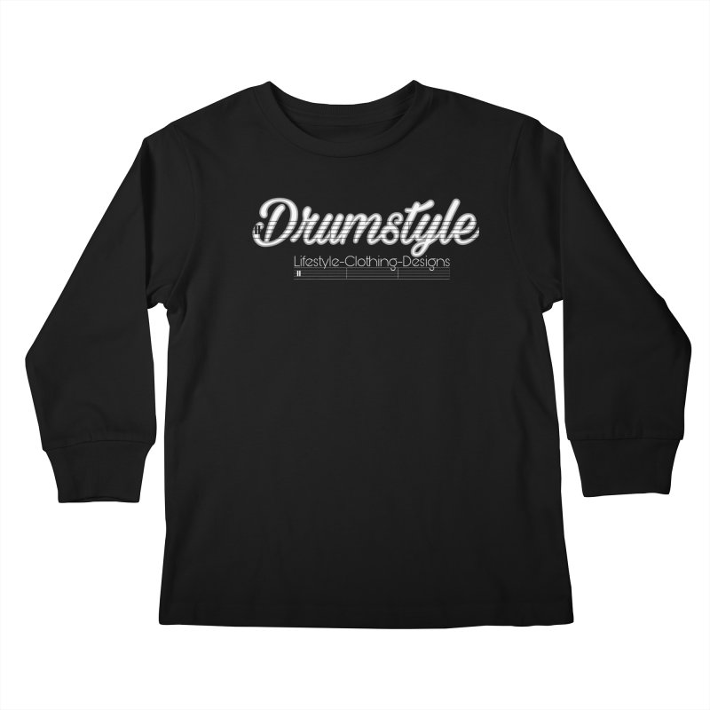 DRUMSTYLE LOGO Kids Longsleeve T-Shirt by Online Store