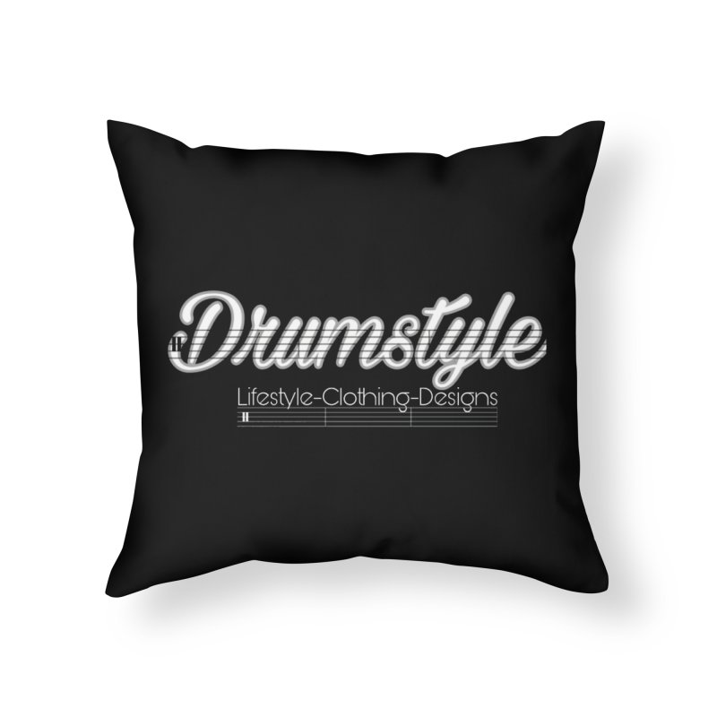 DRUMSTYLE LOGO Home Throw Pillow by Online Store
