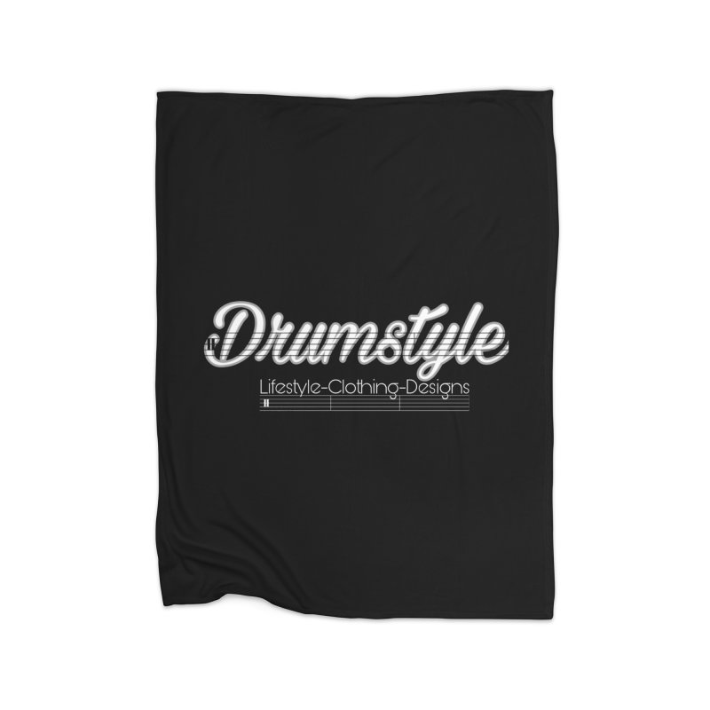 DRUMSTYLE LOGO Home Fleece Blanket Blanket by Online Store