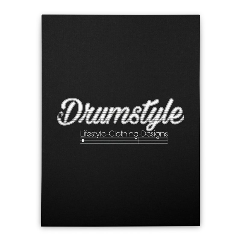 DRUMSTYLE LOGO Home Stretched Canvas by Online Store