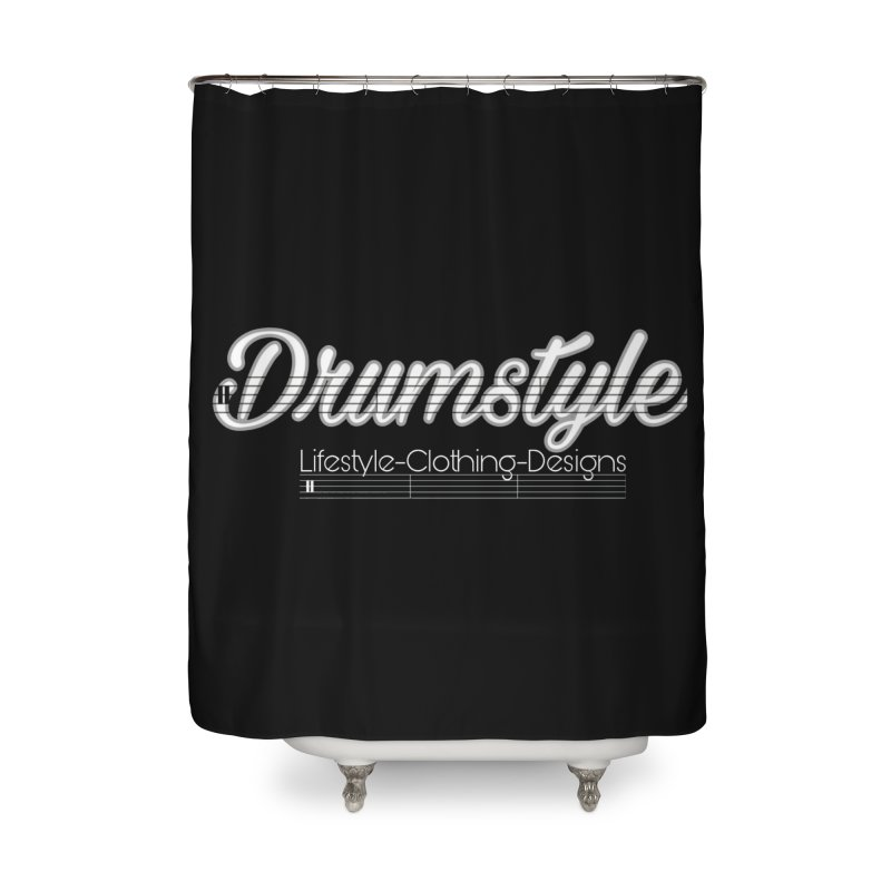 DRUMSTYLE LOGO Home Shower Curtain by Online Store