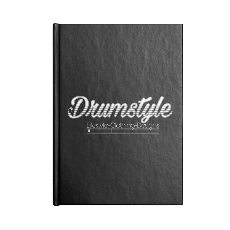 DRUMSTYLE LOGO Accessories Lined Journal Notebook by Online Store