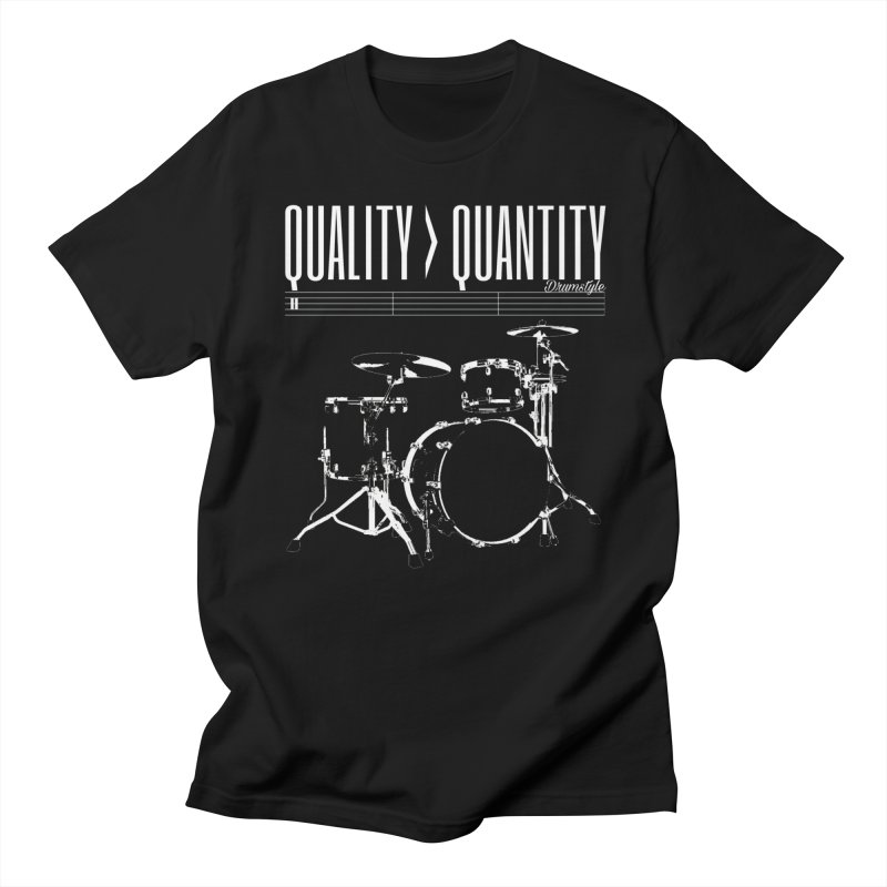 QUALITY OVER QUANTITY in Men's Regular T-Shirt Black by Online Store