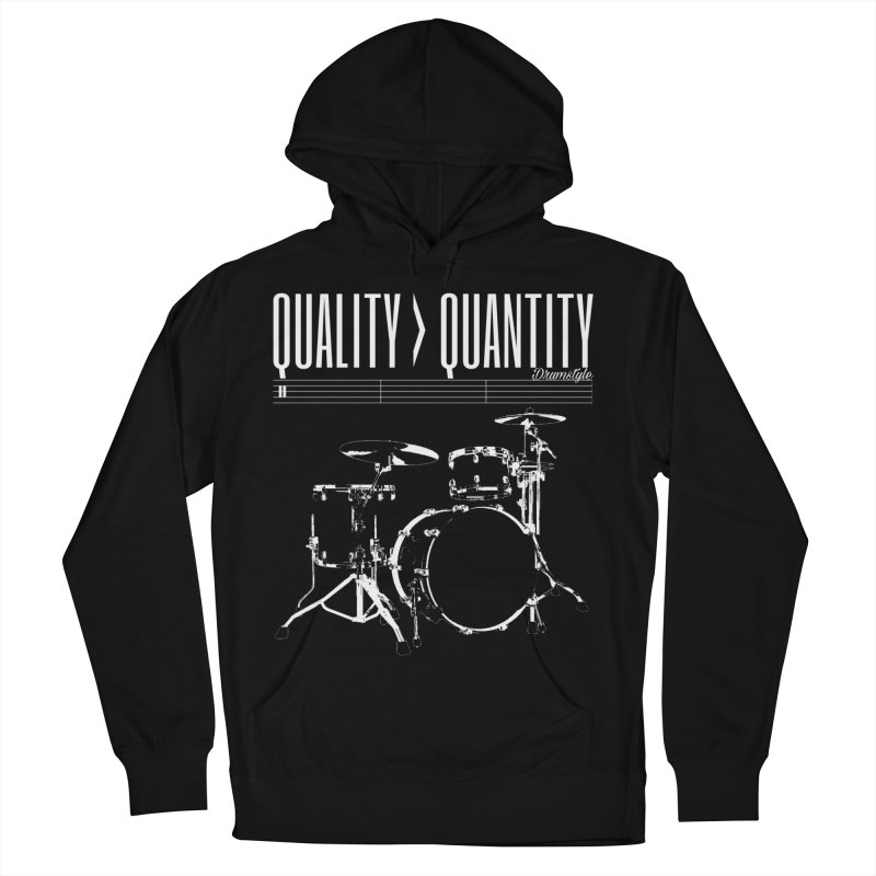 QUALITY OVER QUANTITY Men's French Terry Pullover Hoody by Online Store