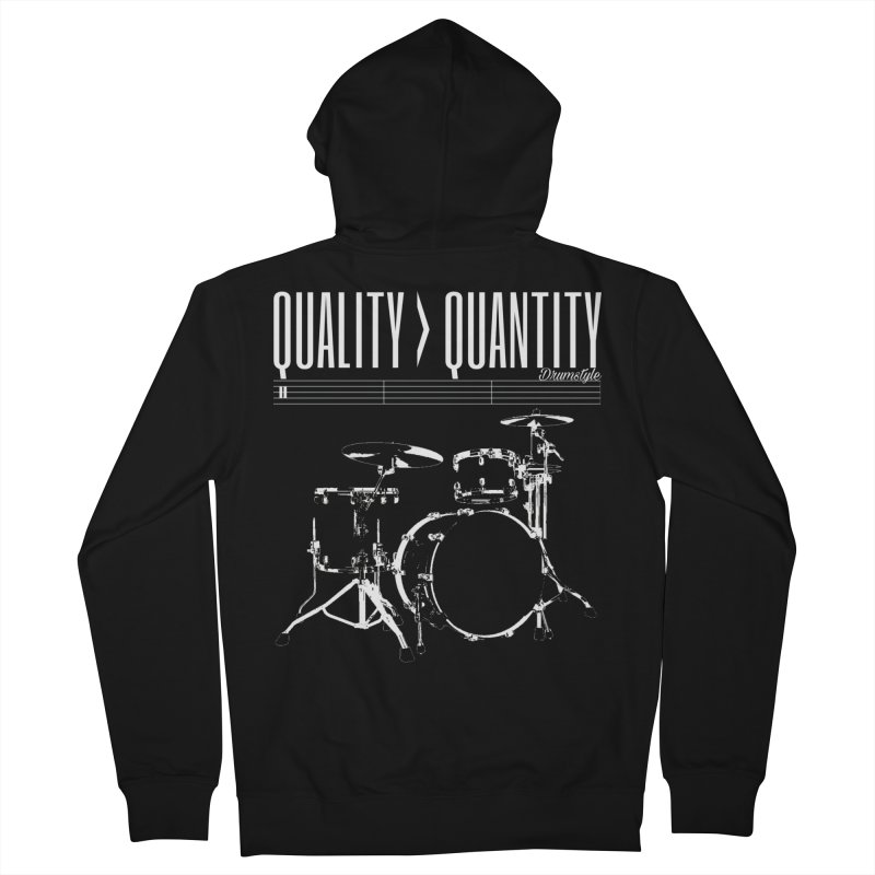 QUALITY OVER QUANTITY Men's Zip-Up Hoody by Online Store