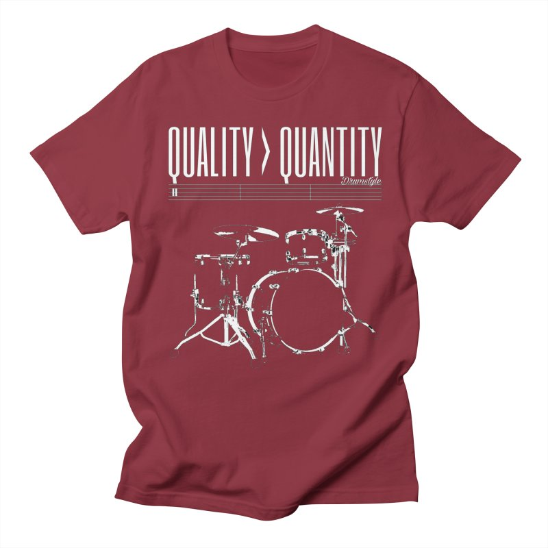 QUALITY OVER QUANTITY Men's T-shirt by Online Store