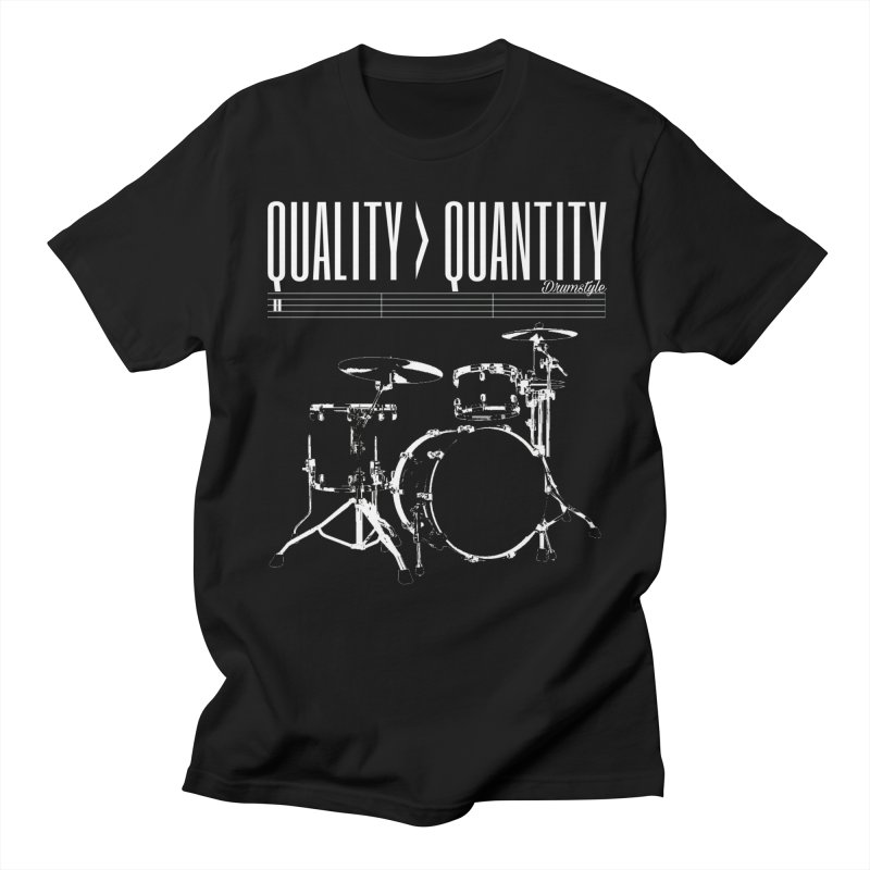QUALITY OVER QUANTITY in Men's T-shirt Black by Online Store