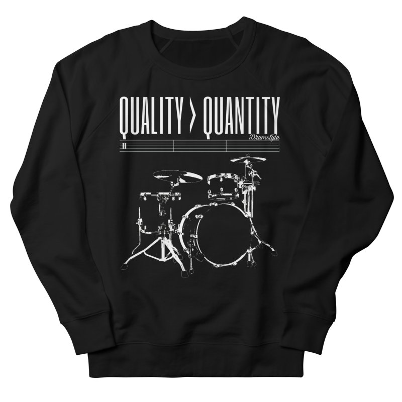 QUALITY OVER QUANTITY Women's Sweatshirt by Online Store