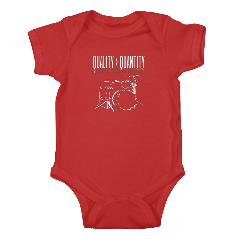 QUALITY OVER QUANTITY Kids Baby Bodysuit by Online Store