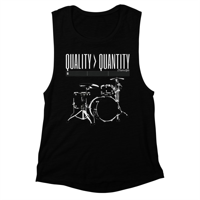 QUALITY OVER QUANTITY Women's Muscle Tank by Online Store