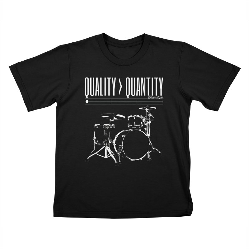QUALITY OVER QUANTITY Kids T-shirt by Online Store
