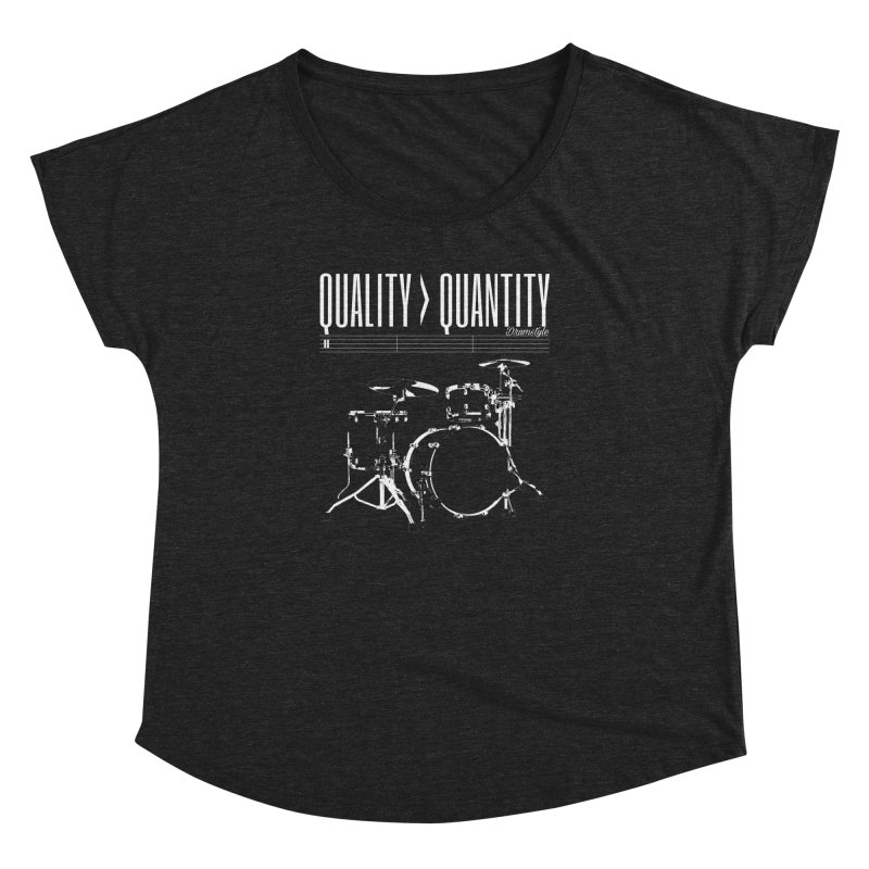 QUALITY OVER QUANTITY Women's Dolman Scoop Neck by Online Store