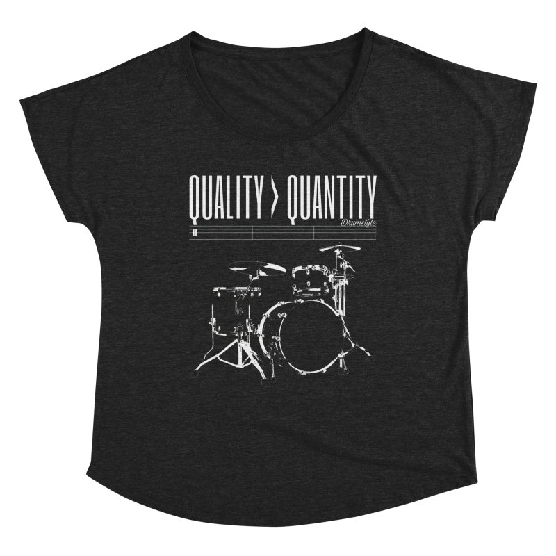 QUALITY OVER QUANTITY Women's Scoop Neck by Online Store