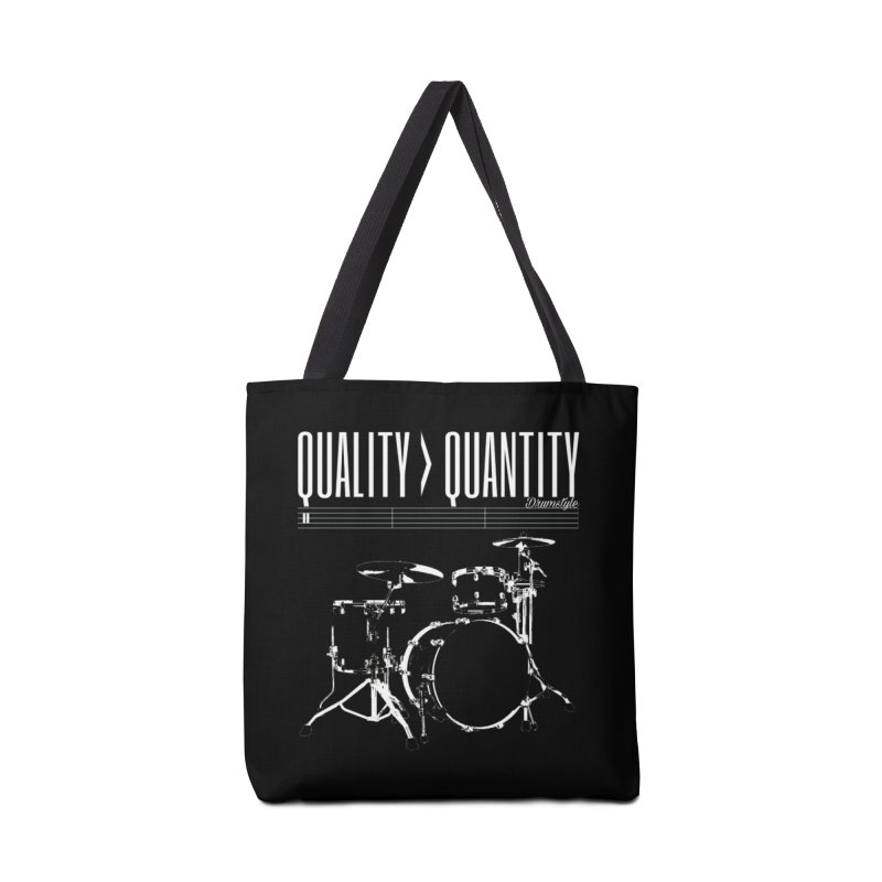 QUALITY OVER QUANTITY Accessories Bag by Online Store