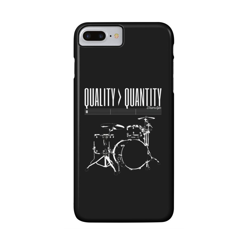 QUALITY OVER QUANTITY Accessories Phone Case by Online Store