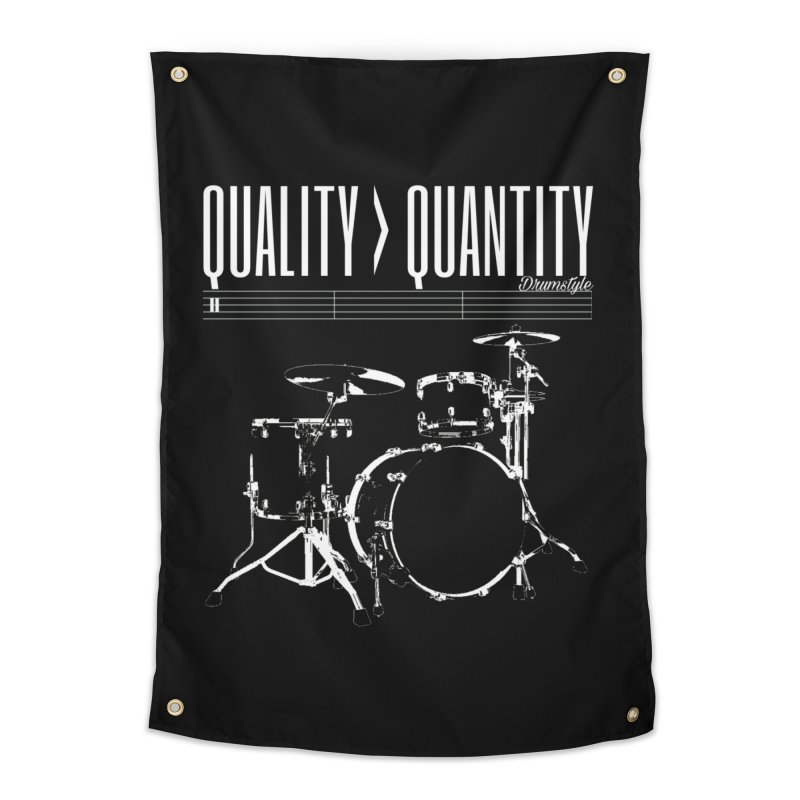 QUALITY OVER QUANTITY Home Tapestry by Online Store