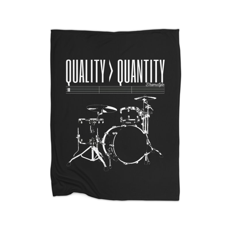 QUALITY OVER QUANTITY Home Fleece Blanket Blanket by Online Store