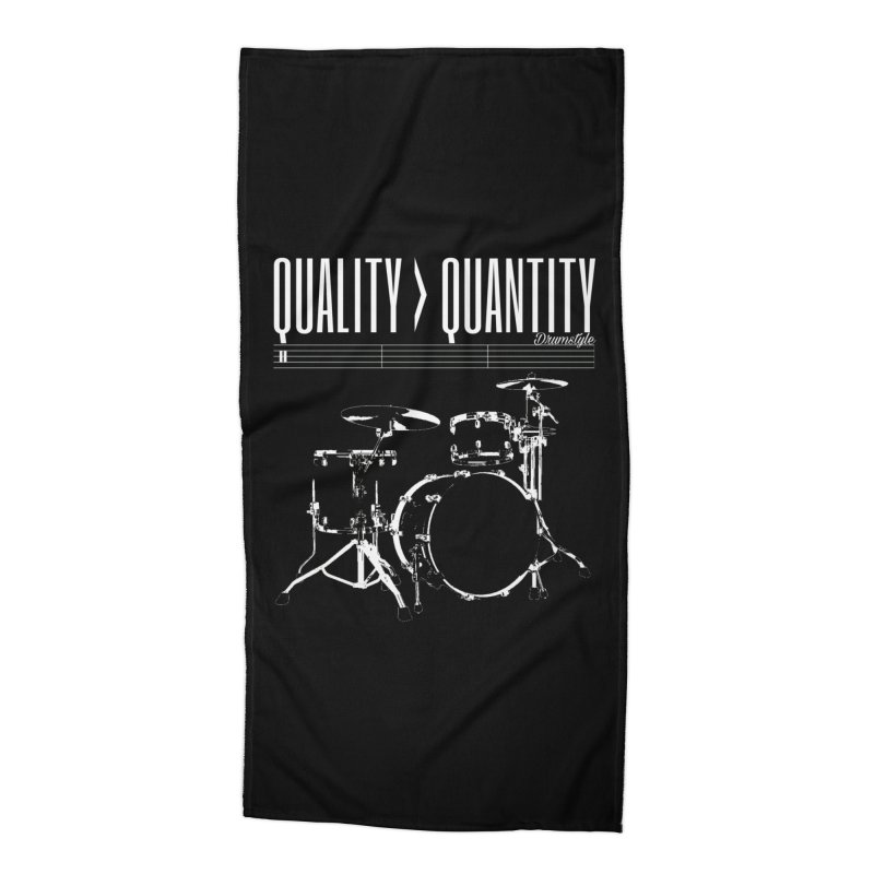 QUALITY OVER QUANTITY Accessories Beach Towel by Online Store