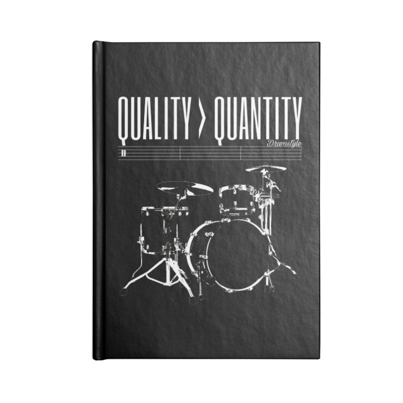 QUALITY OVER QUANTITY Accessories Lined Journal Notebook by Online Store