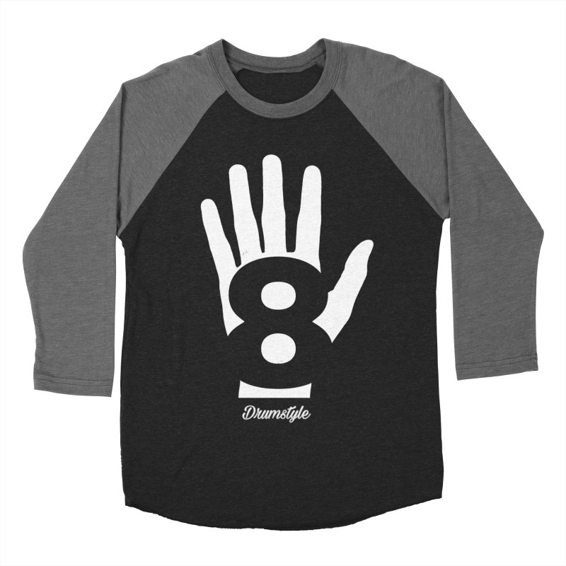 8 ON A HAND by Drumstyle Women's Baseball Triblend Longsleeve T-Shirt by Online Store